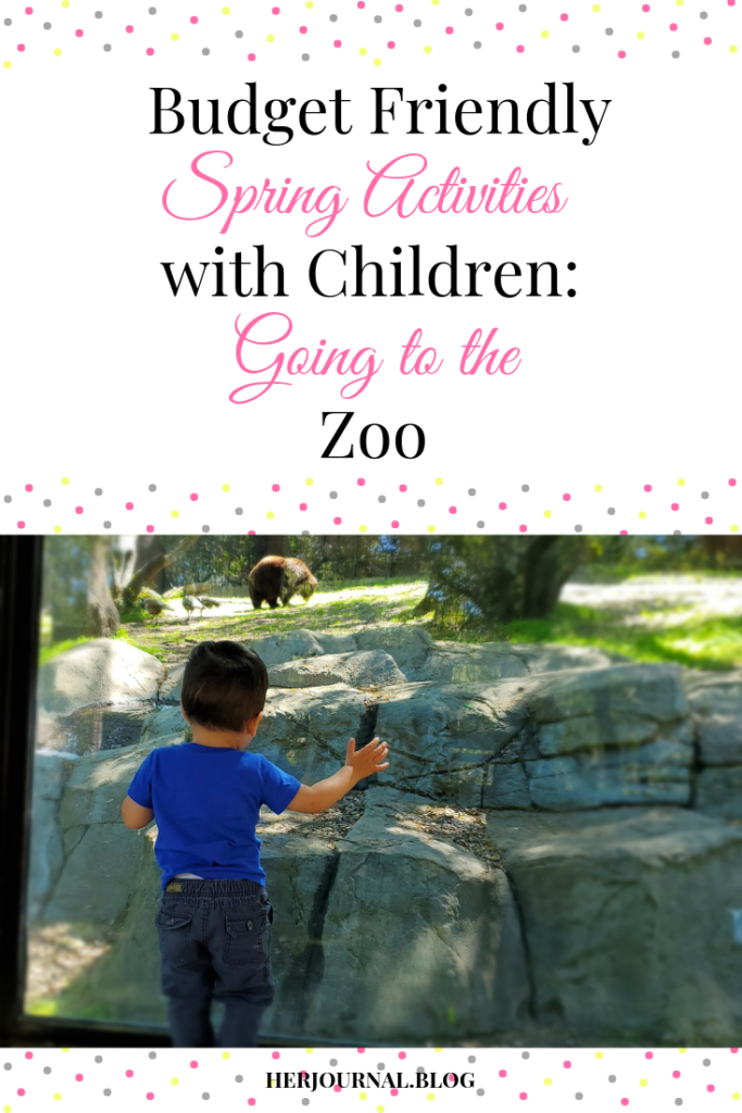 Budget friendly spring activities to do with children- going to the zoo