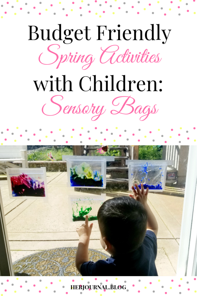Budget Friendly Spring Activities with Children: Sensory Bags