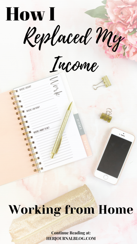 Replace My Income: My Goal and Success Working from Home